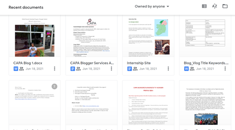 A glimpse of the documents I used and created during my internship.