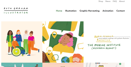 A glimpse of my site supervisor's website. Ruth Graham, Ruth Graham Design.