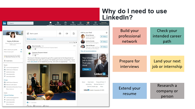 Screenshot of LinkedIn Presentation from Hayley Ni Bhriain