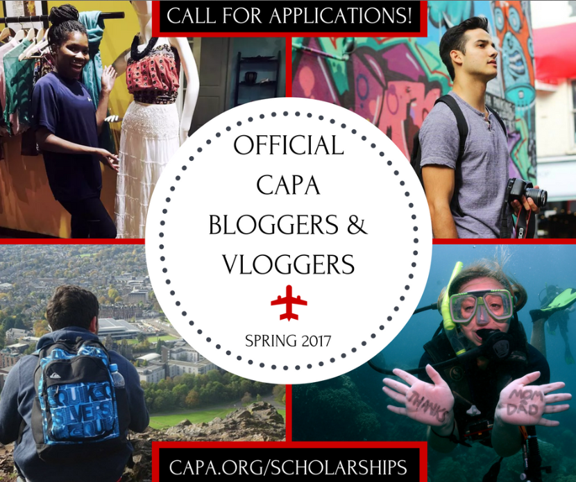 Call for Applications - Official CAPA Bloggers and Vloggers Spring 2017