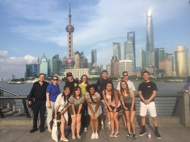 CAPA Shanghai Students with Colin at the Bund