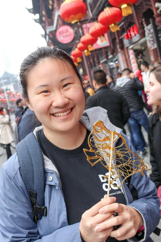 CAPAStudyAbroad_Spring2019_Shanghai_DAP Scholar_Malia Waltman_Malia with Street Food
