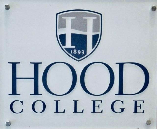 Hood College sign