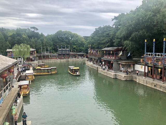 A lake beautifully located within the Summer Palace
