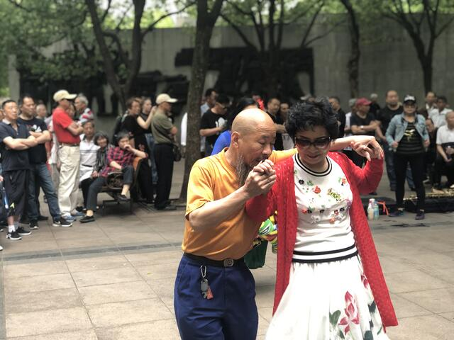 Street Dancers at Shanghai's People Square
