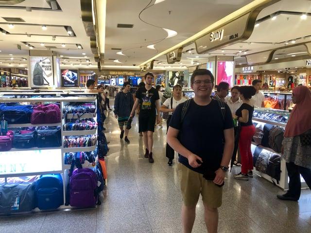 CAPA students shopping in a market in Beijing
