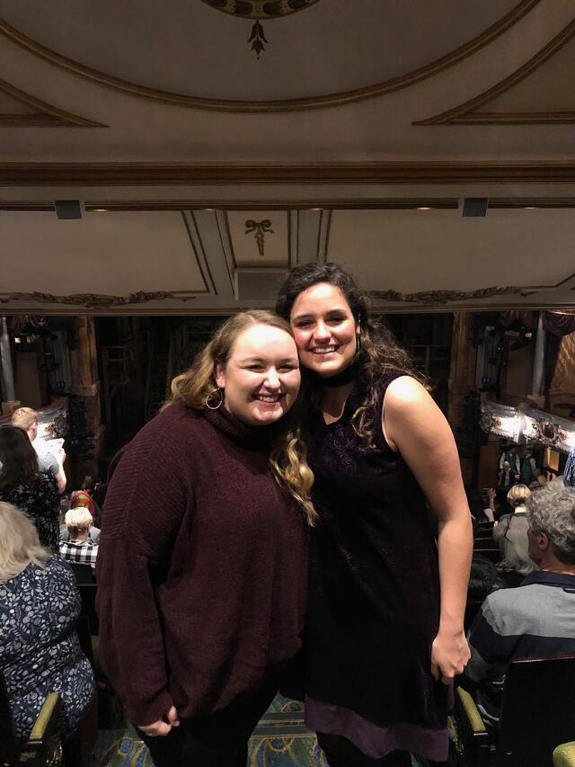 CAPAStudyAbroad_London_Fall2018_From Liz Autry - Liz and friend at show