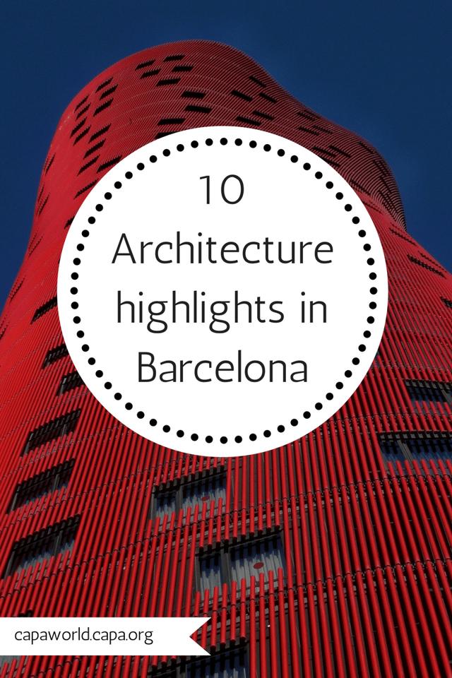 Architecture in Barcelona - Pinterest Graphic