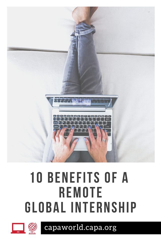 Benefits of a Remote Global Internship - Pinterest Graphic