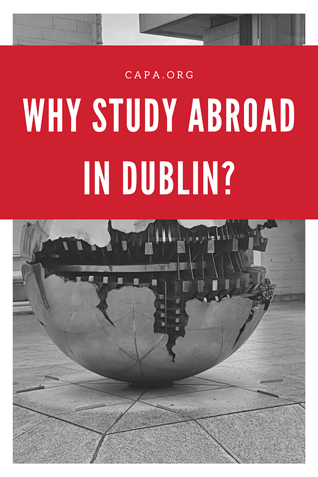 Why Study Abroad in Dublin - Pinterest Graphic