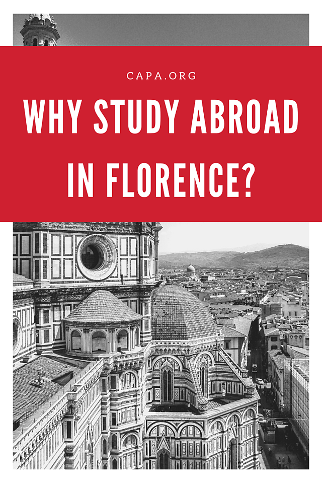 Why Study Abroad in Florence - Pinterest Graphic