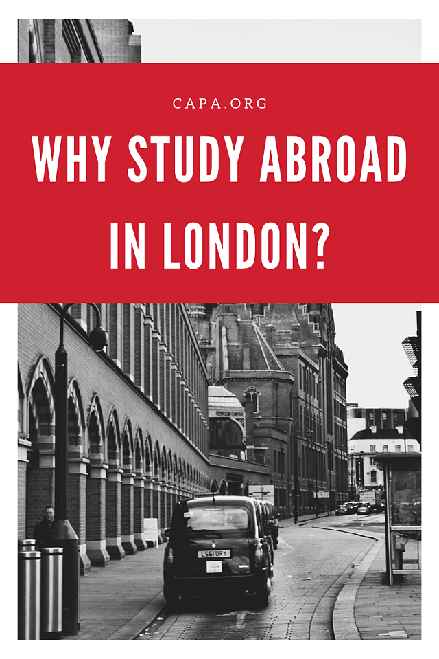 Why Study Abroad in London - Pinterest Graphic