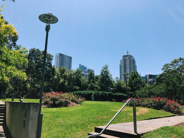 A park within the city itself contributes to Sydney's green space reputation.
