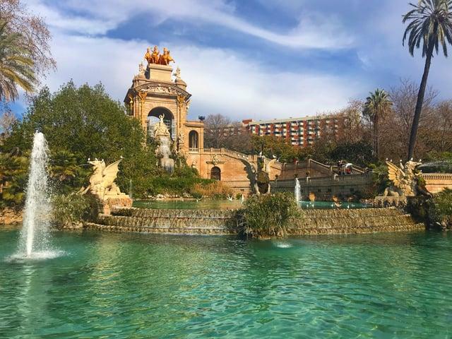 The Beautiful Parc de la Ciutadella in Barcelona, Spain.