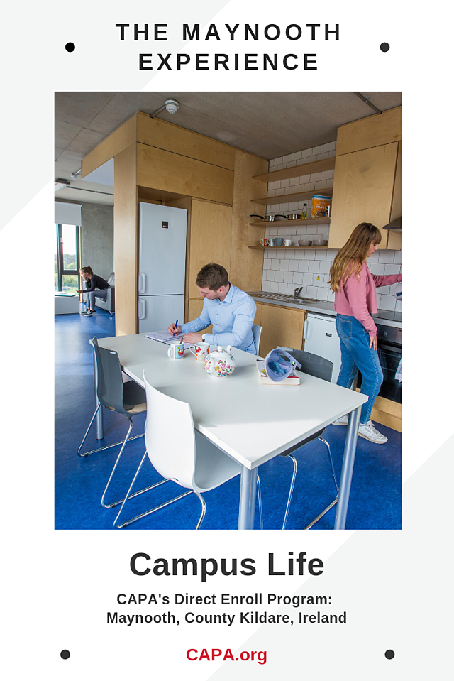 Pinterest Graphic - Maynooth - Campus Life
