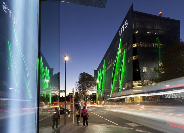 UTS_FEIT Building_exterior by night from Central Park_Photographer And