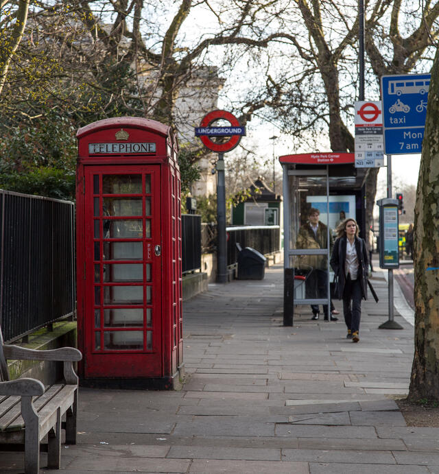 Phone Box in HYde Park