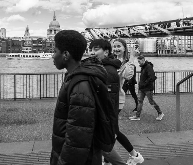 Kids Walking by St Paul's