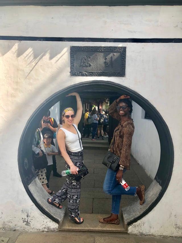 Absa Samba_Lauren and me at Yuyuan Garden on one of CAPA trips