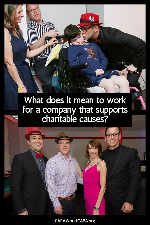 What Does it Mean to Work for a Company that Supports Charitable Causes - Pinterest Graphic