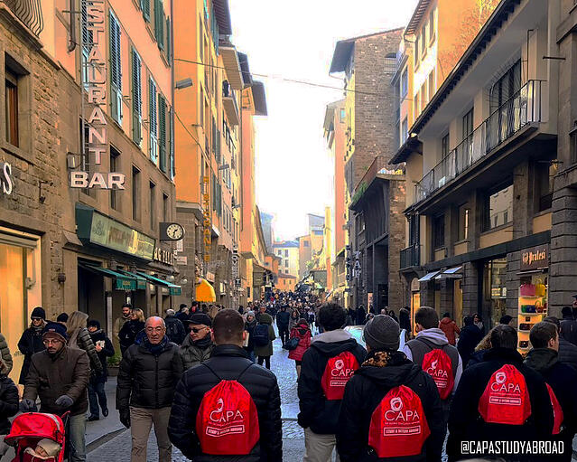 Students Taking over Florence_NO TEXT_From CAPAStaff