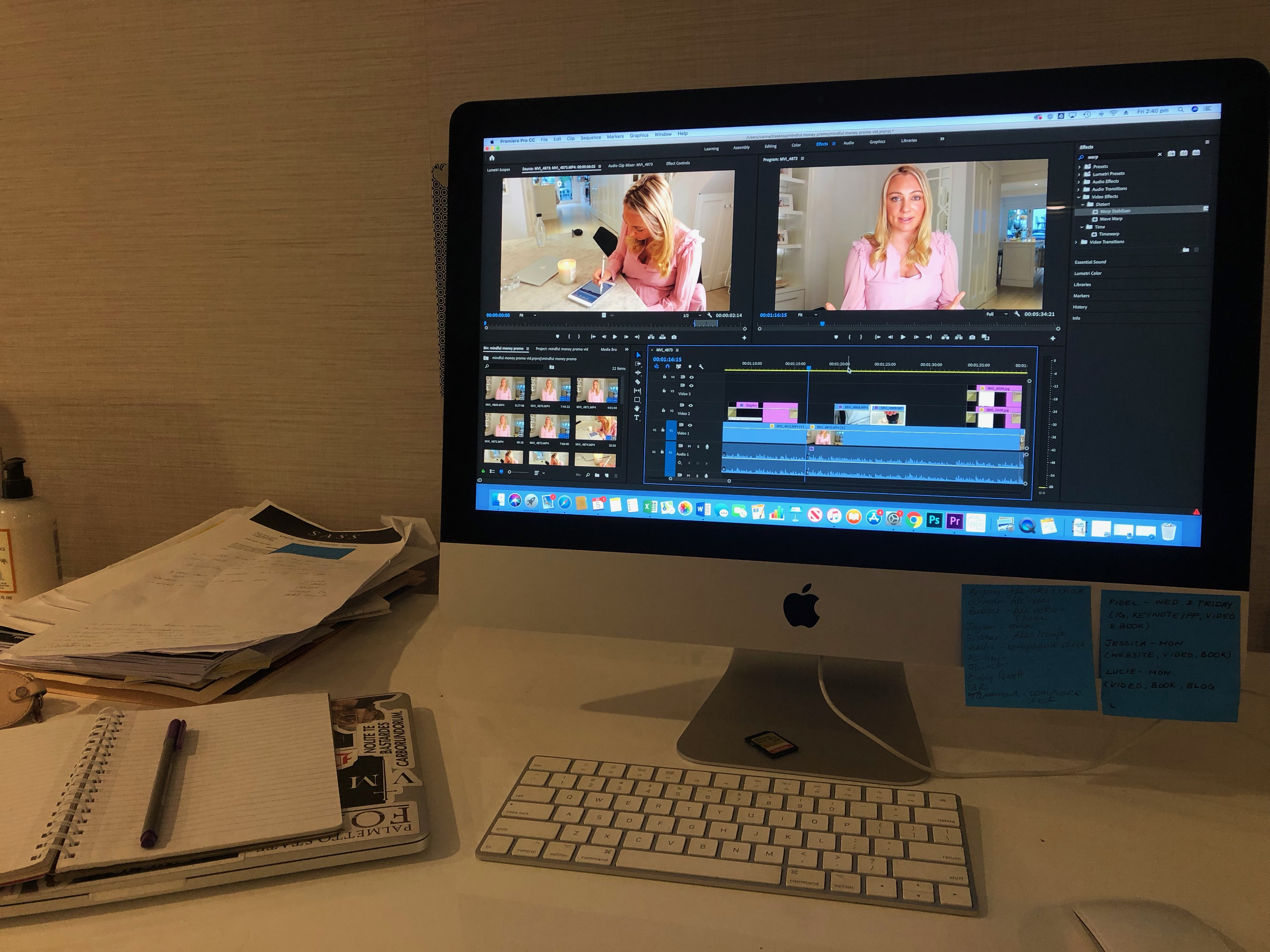 Editing a Video of Canna Campbell of Sugarmamma.tv