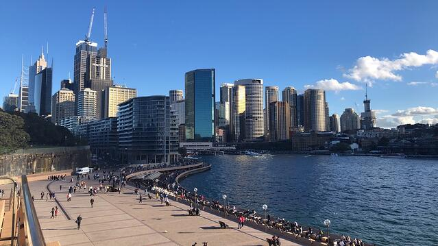 Sydney's Central Business District Near the Water