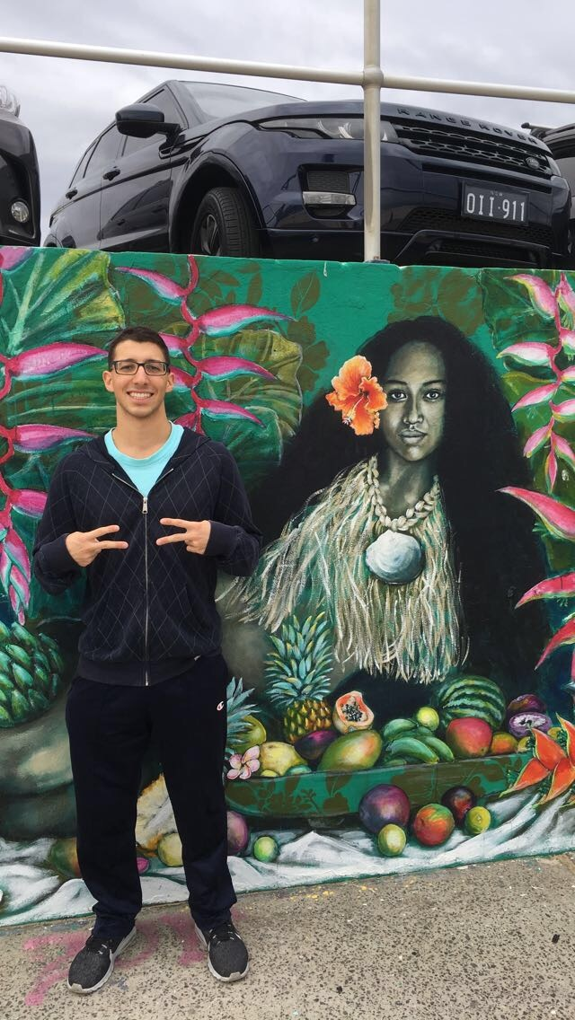 Photo of Myself with a Mural in Sydney