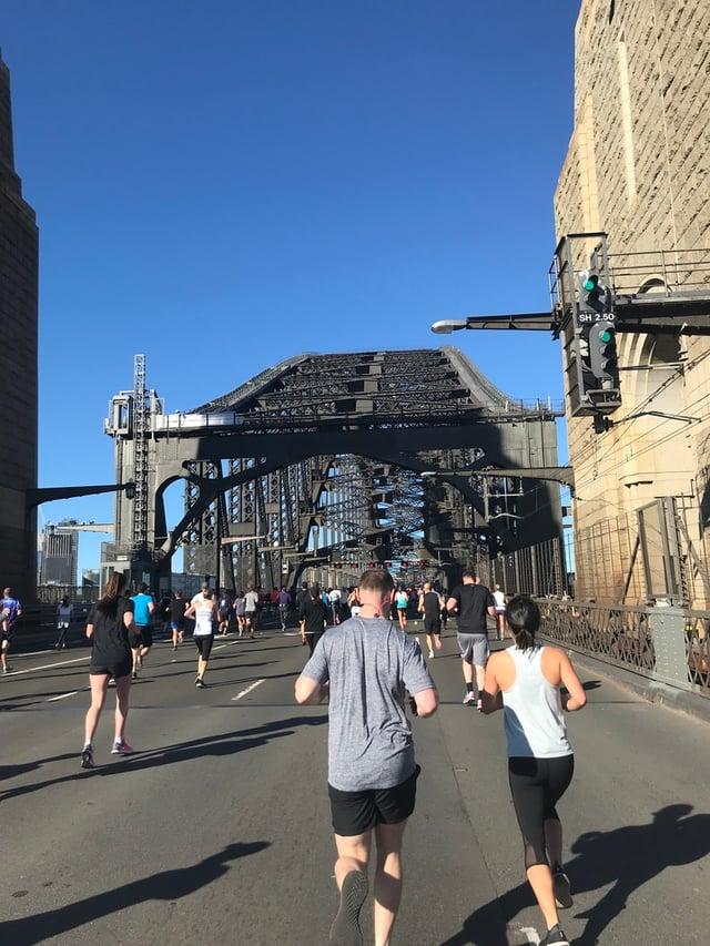 Running 10k on the Sydney Harbor Bridge for the Blackmores Sydney Running Festival
