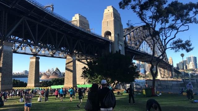 The Blackmores Sydney Running Festival at the Sydney Harbor Bridge