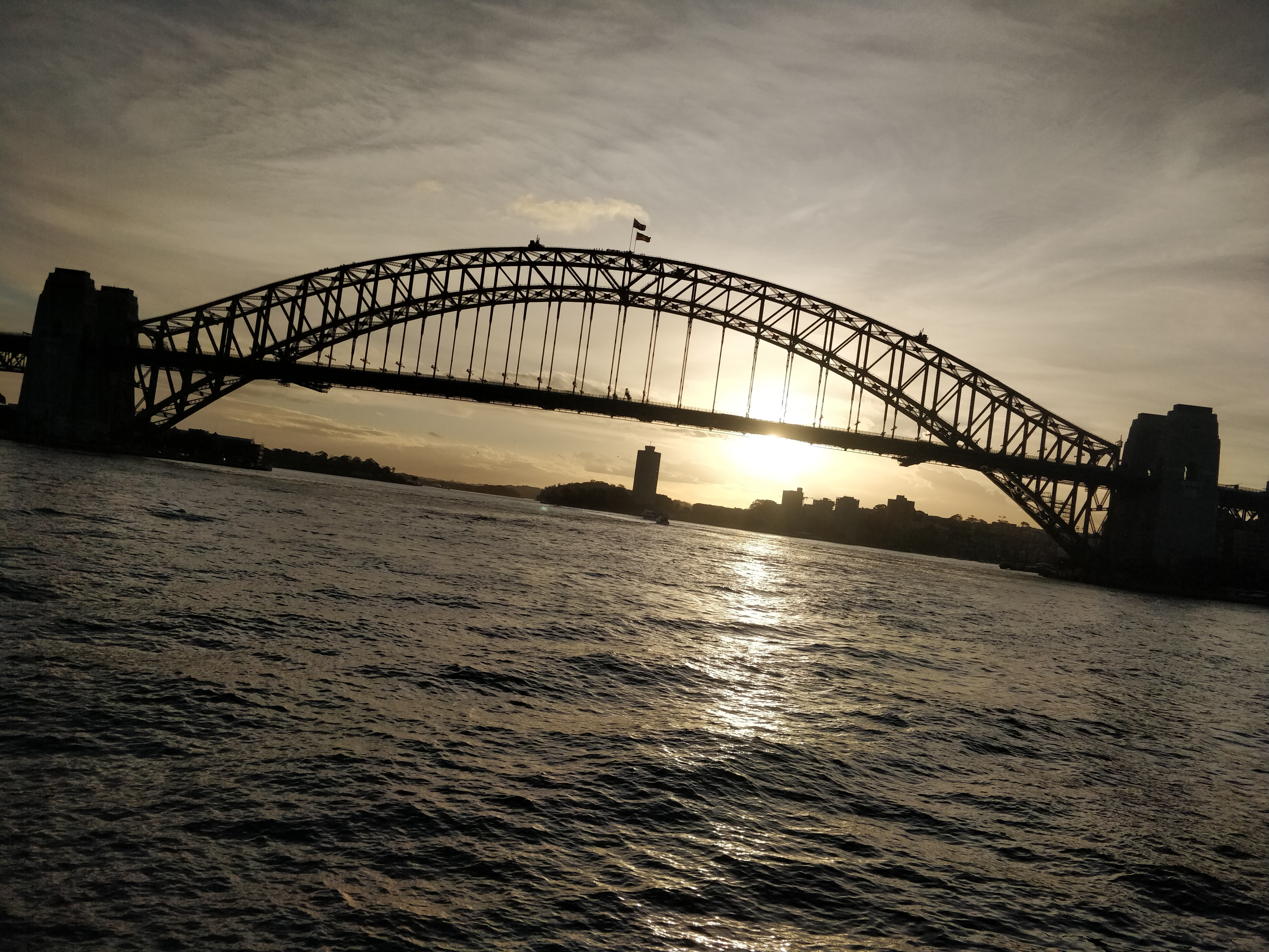A View of the Sydney Harbour Bridge on the Ferry to Manly