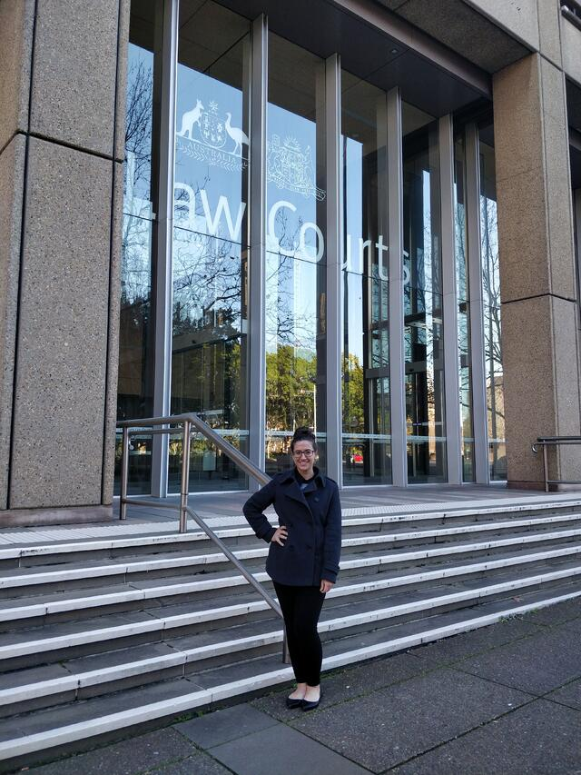 Outside the Supreme Court in Sydney