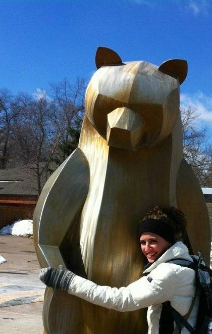 CAPAStudyAbroad_Sydney_Summer2018_From Marianne Zarzar - Posing with a Bear Sculpture