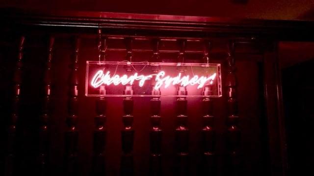 Cheers Sydney Neon Light