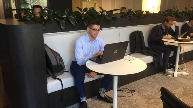 CAPA Student Lorenzo Working Remotely for Internship