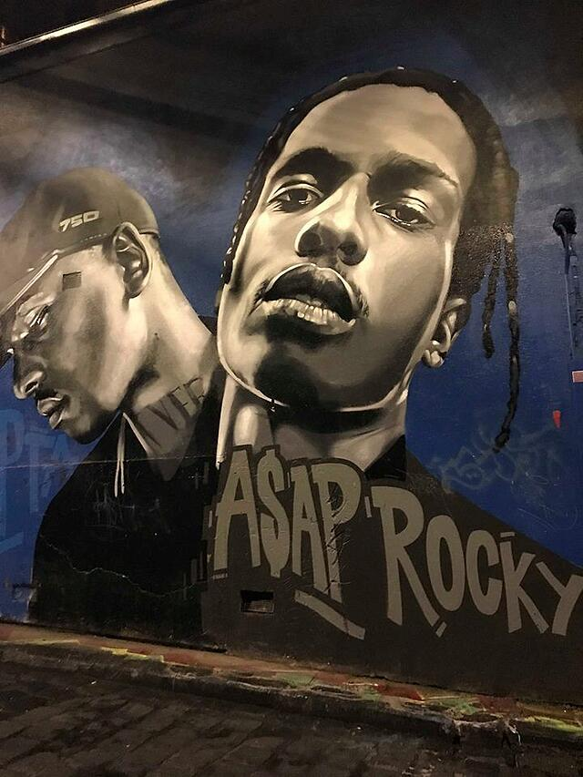 Mural of A$AP Rocky in Melbourne, Australia