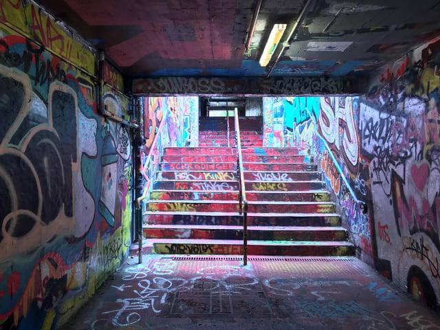 Graffiti'd Halls of University of Sydney