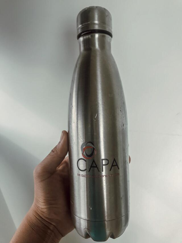 Thanks for the free CAPA reusable water bottle