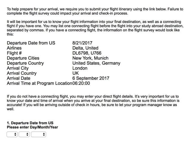 Flight info (old Flight info, not current)