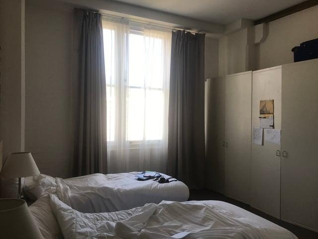 A different bedroom setup
