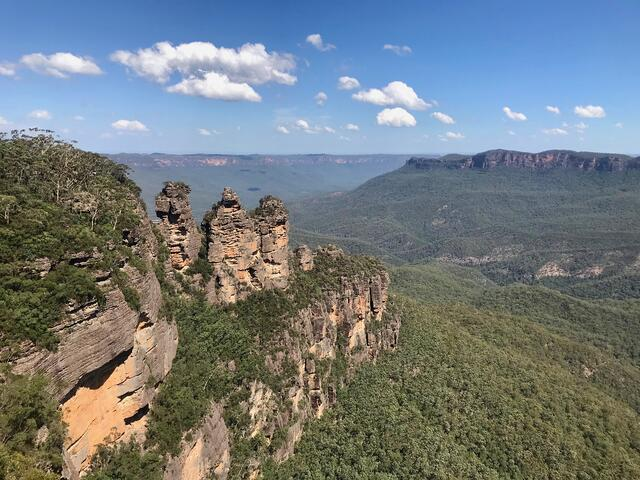The famous Three Sisters