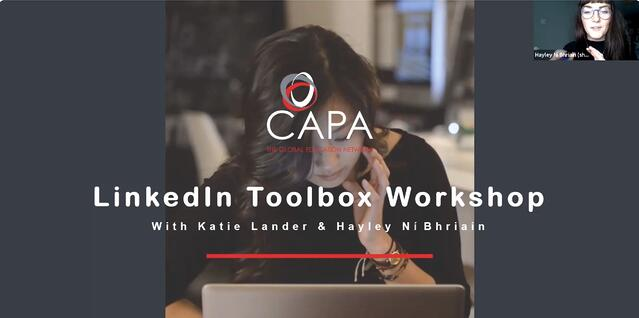 My Global City and Professional Development event: LinkedIn Workshop with CAPA