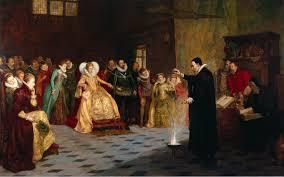 Dr. John Dee performing in front of Queen Elizabeth