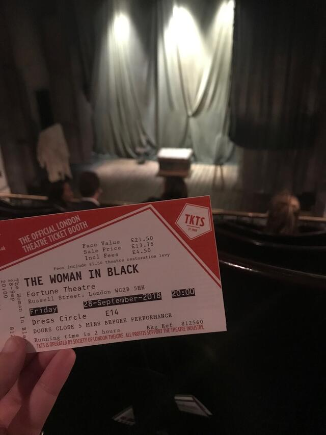 The Woman in Black Ticket