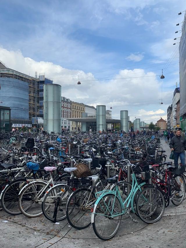 Bike park in Copenhagen