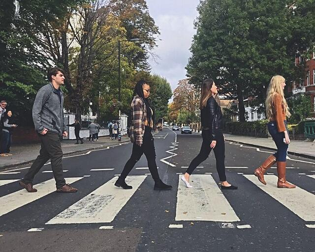 CAPA Students Recreating the Infamous Abbey Road Album Cover