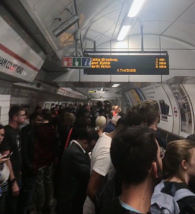 the Tube during Rush Hour