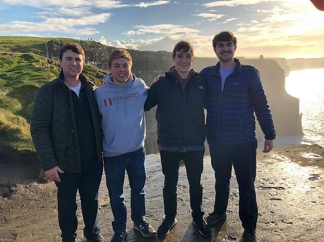 Friends and I at the Cliffs of Moher