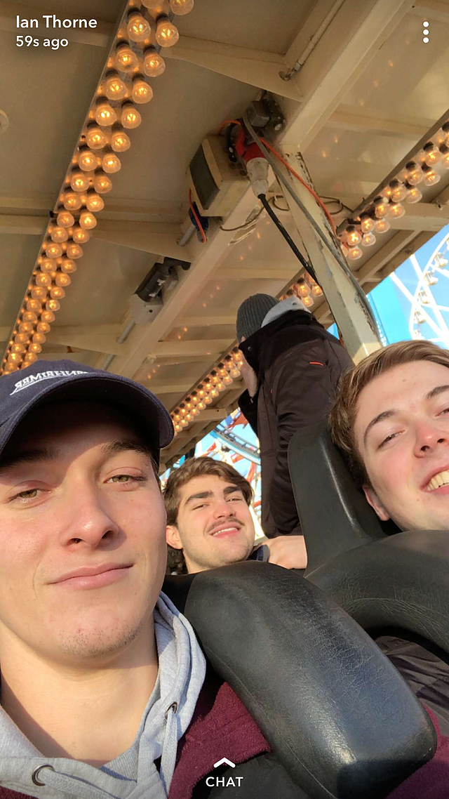 Me and Friends on a Roller Coaster
