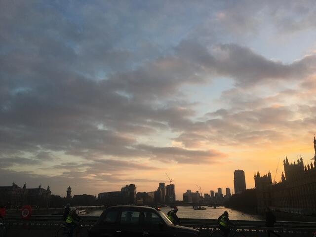 Sunset & View of the Thames